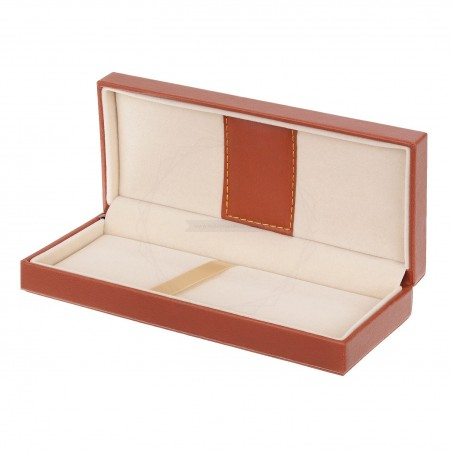 Brązowe pudełko prezentowe ze skóry ekologicznej [P0198]
