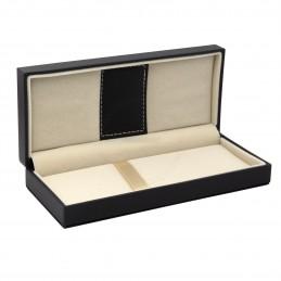 Czarne pudełko prezentowe ze skóry ekologicznej [P0201]Czarne pudełko prezentowe...