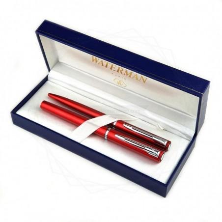 Zestaw Długopis + pióro Waterman Graduate czerwony CT [DUOALLURE3]