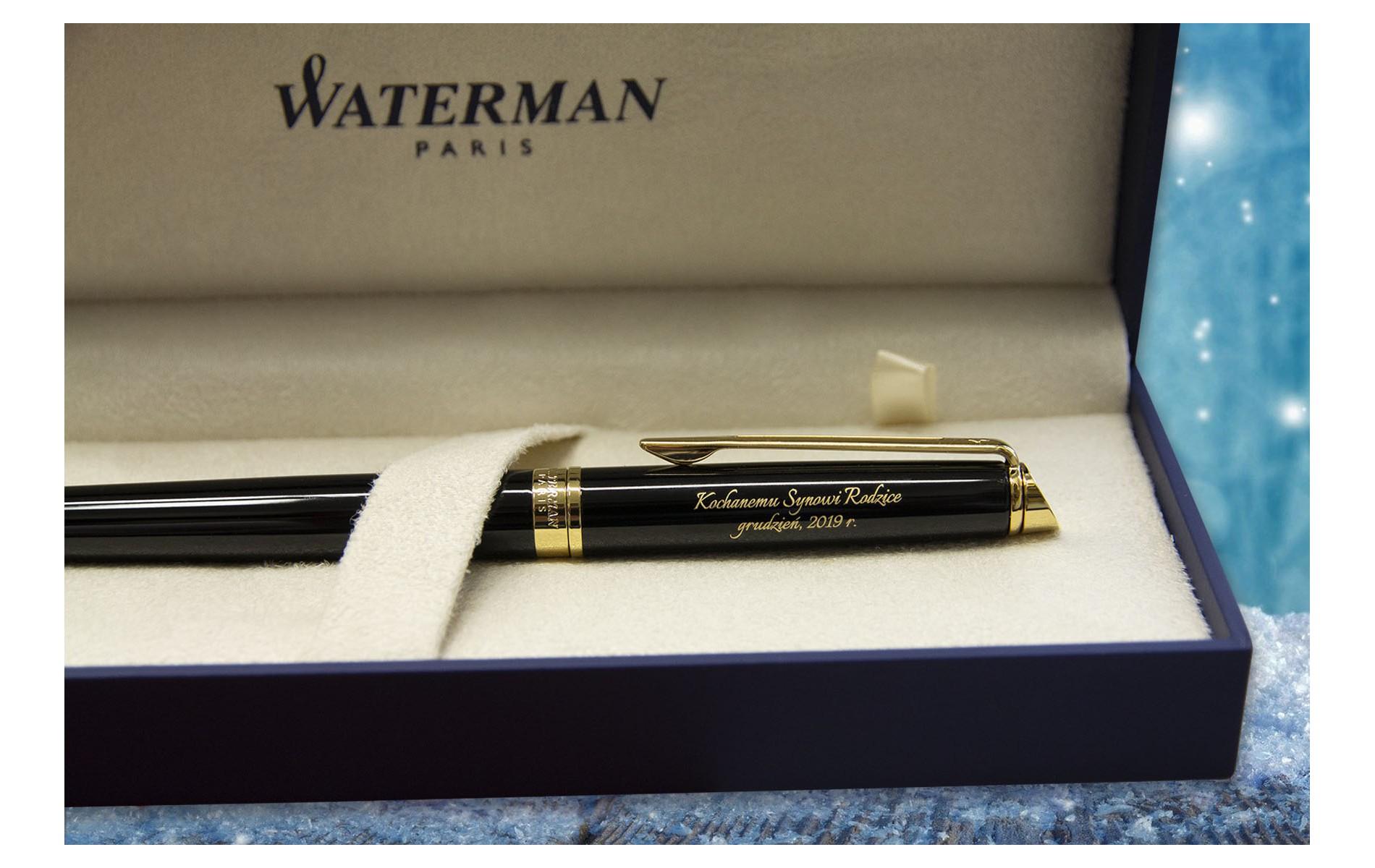 Długopis Waterman Hemisphere czarny GT [S0920670] w pudełku z grawerem