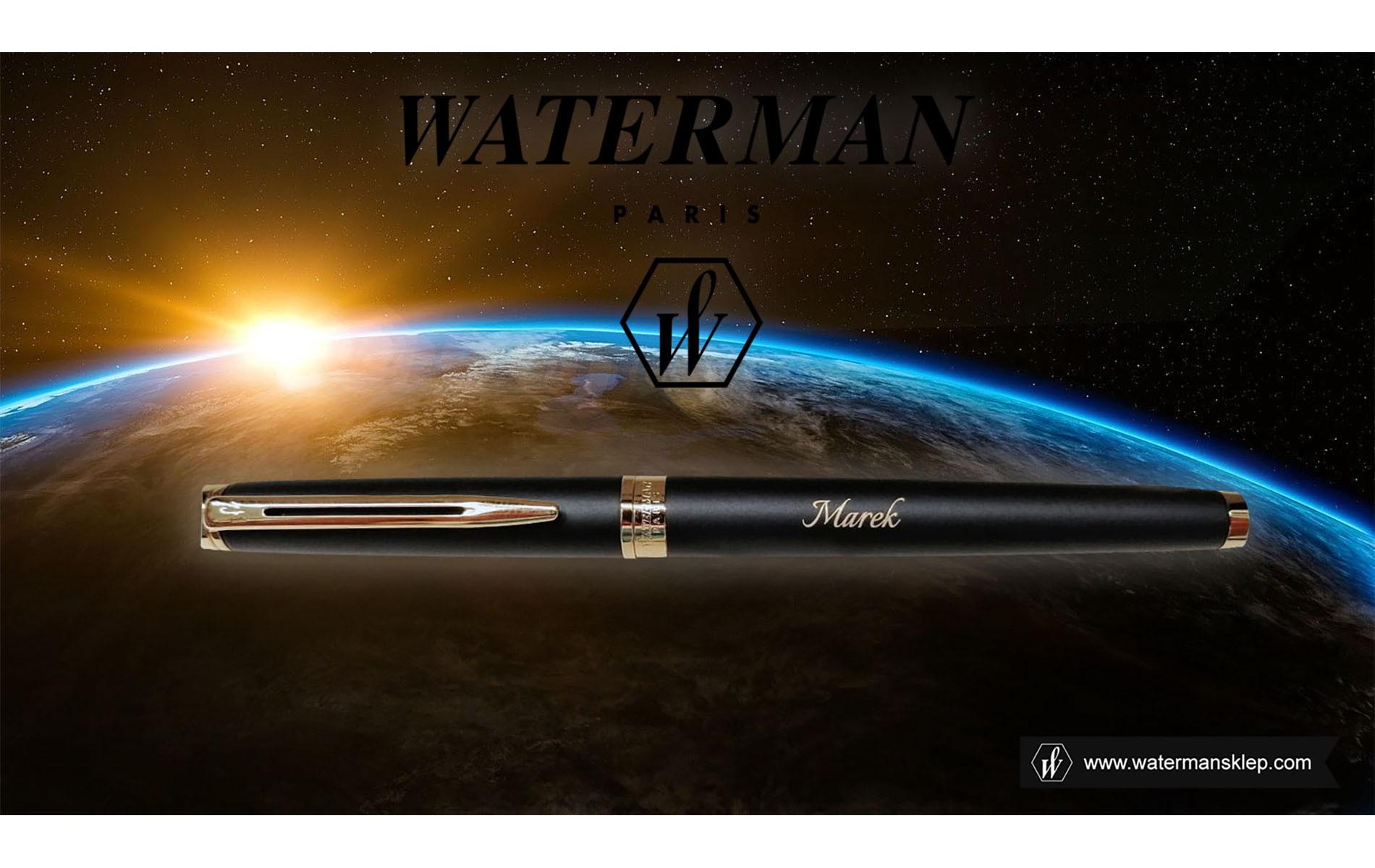 Pióro wieczne Waterman Hemisphere czarne matowe GT [S0920710] z grawerem w kosmosie