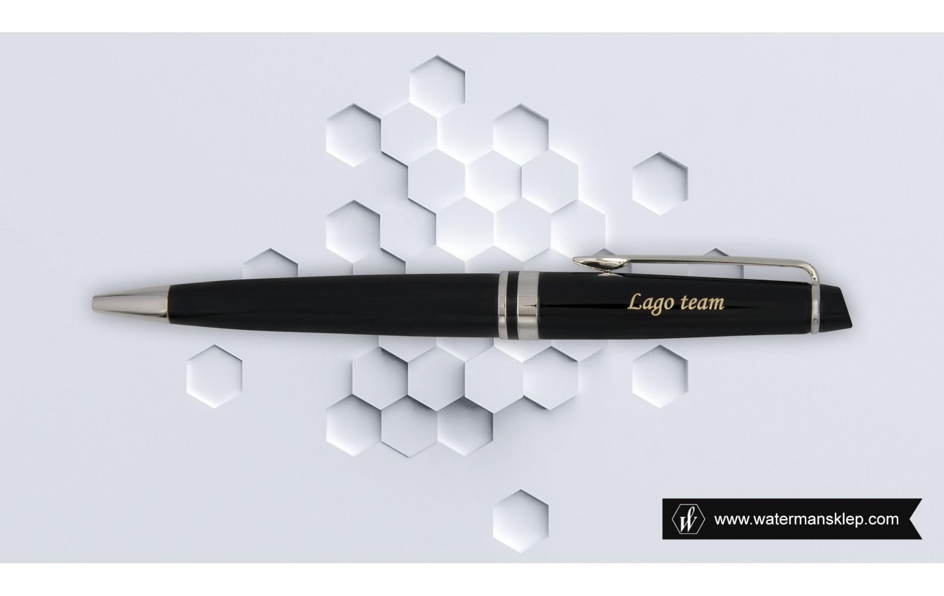 Długopis Waterman Expert czarny CT [S0951800] z grawerem na korpusie