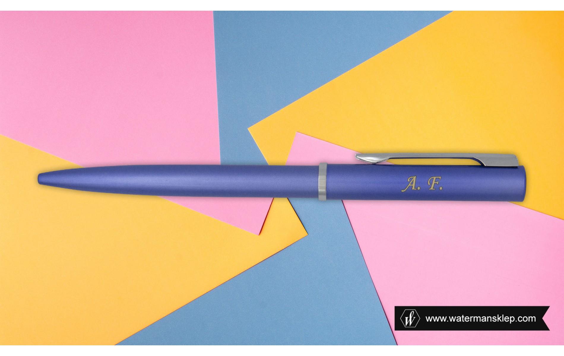Długopis Waterman Allure niebieski CT [2068191] z grawerem