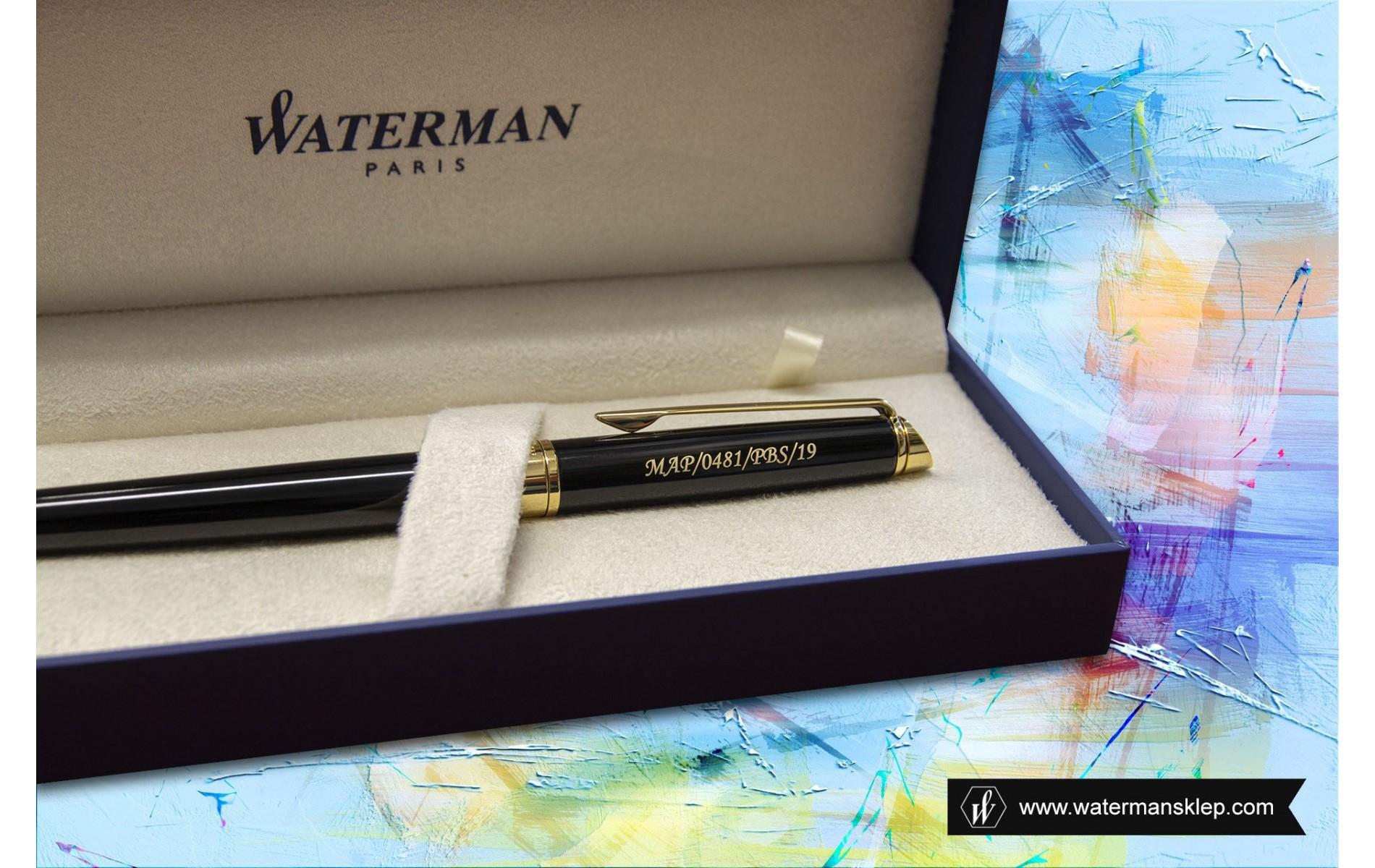 Pióro wieczne Waterman Hemisphere czarne GT [S0920610] z grawerem