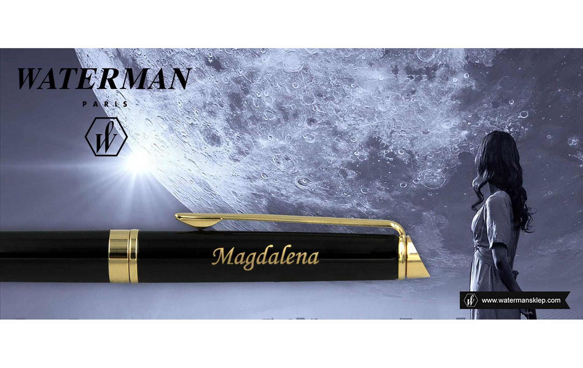 Pióro wieczne Waterman Hemisphere czarne GT [S0920610] z grawerem MAGDALENA