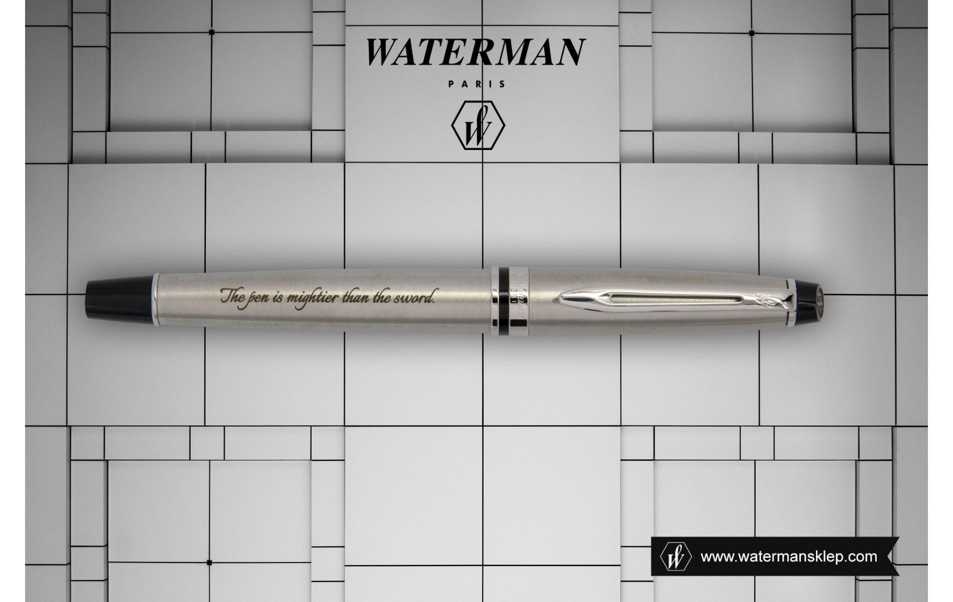Pióro wieczne Waterman Expert stalowe CT [S0952040] z grawerem