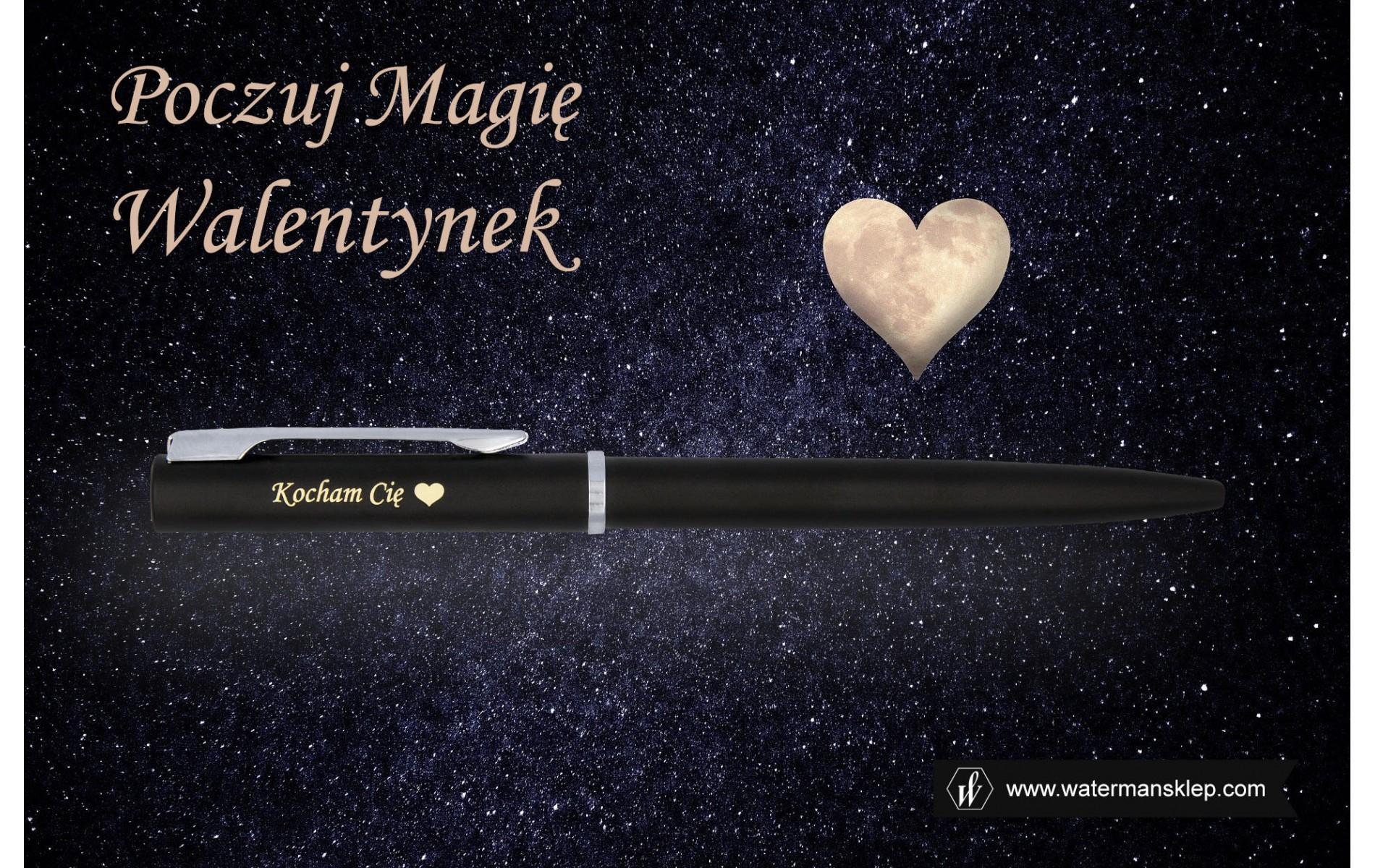Długopis Waterman Allure czarny matowy CT [2068192] z grawerem na walentyki