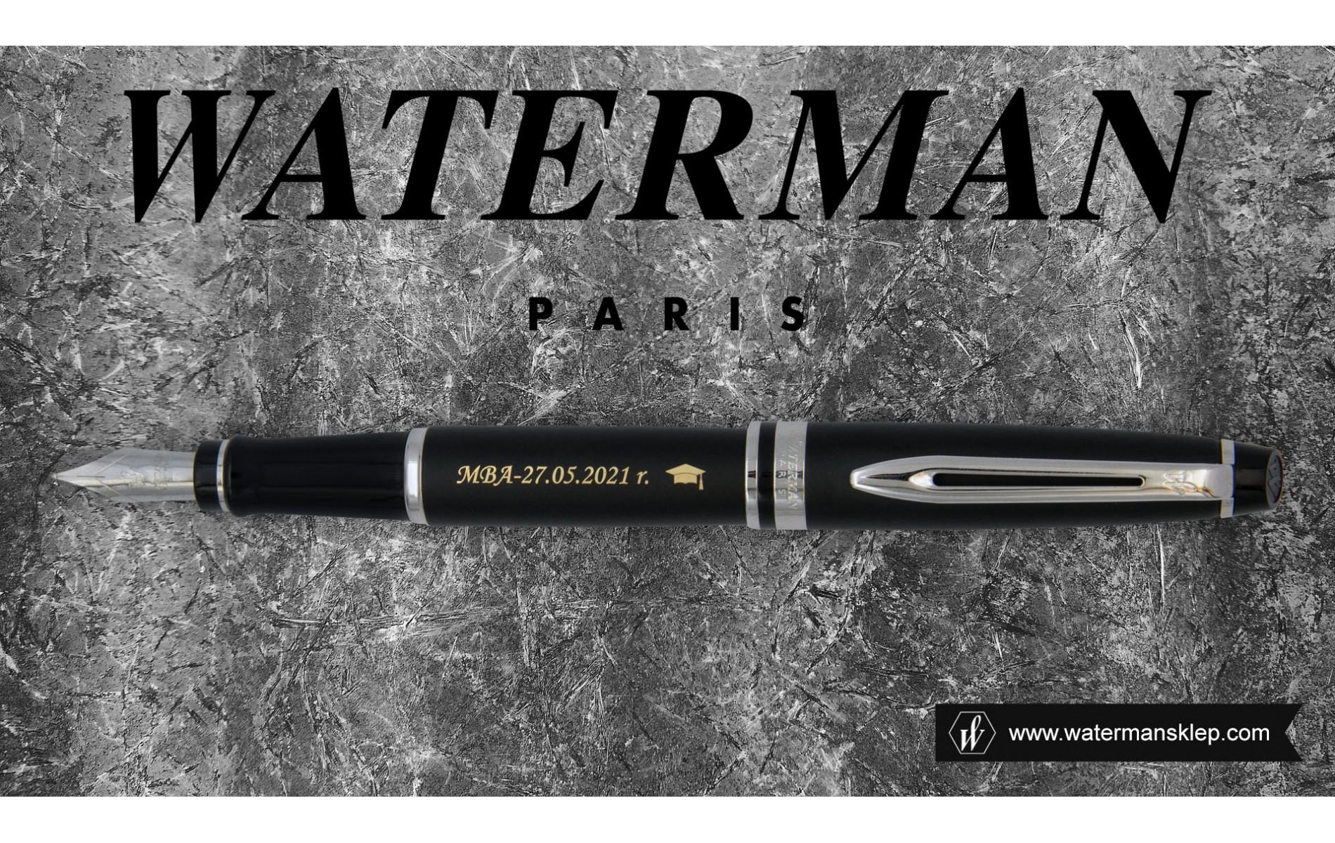 Pióro wieczne Waterman Expert czarne matowe CT [S0951840] z grawerem