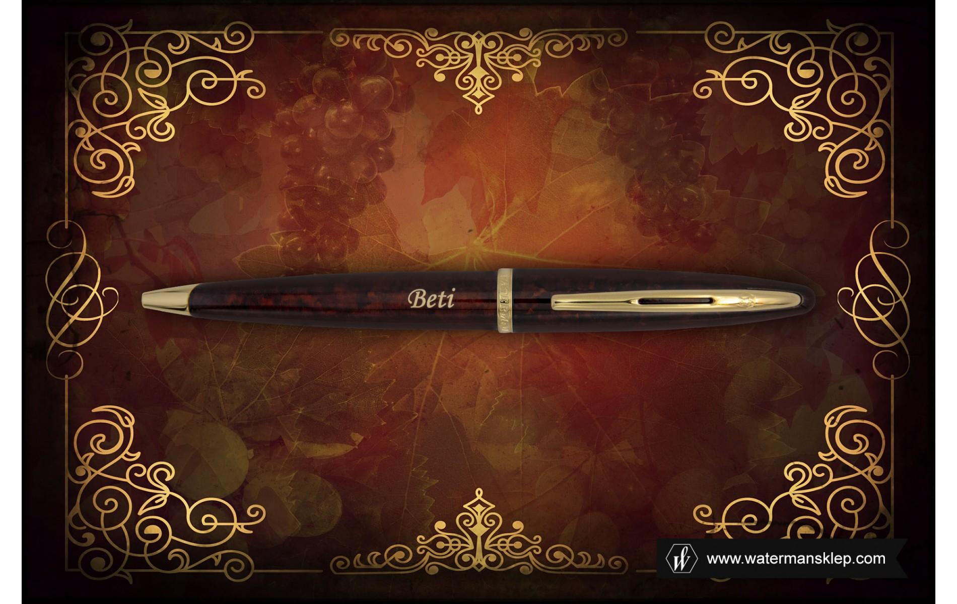 Długopis Waterman Carene bursztyn GT [S0700940] z grawerem BETI