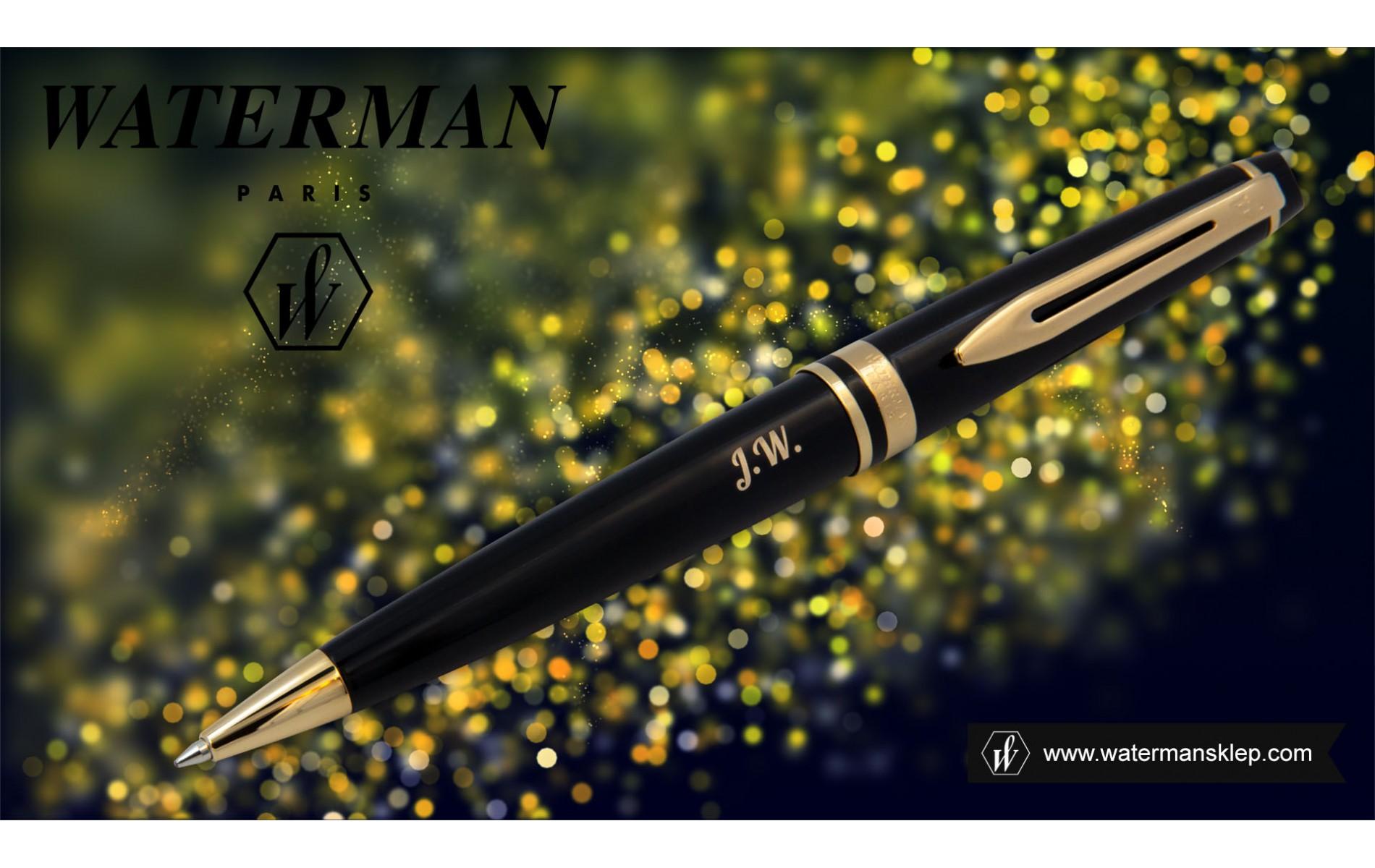 Długopis Waterman Expert czarny GT [S0951700] z grawerem