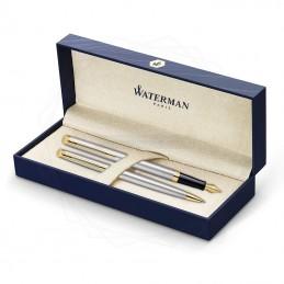 Zestaw Waterman pióro + długopis Hemisphere stalowe GT [KPLH002]Zestaw Waterman pióro +...