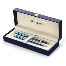 Zestaw Waterman pióro + długopis Hemisphere Sea Blue CT [KPLH003]Zestaw Waterman pióro +...