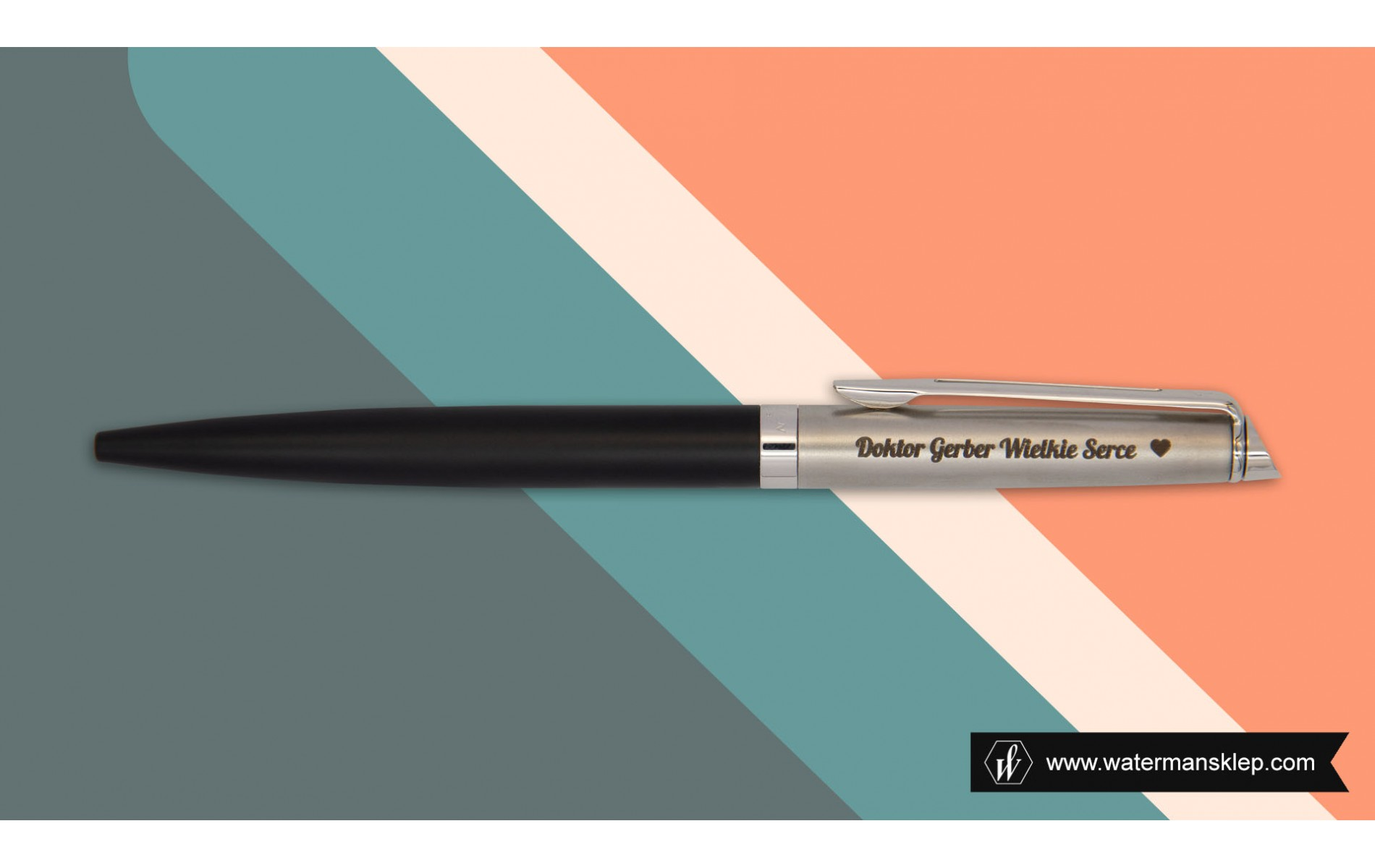 Długopis Waterman Hemisphere Essential Czarny CT [2146586] z grawerem