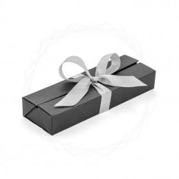 Pudełko prezentowe srebrne z wstążką [19614-00]Pudełko prezentowe srebrne...