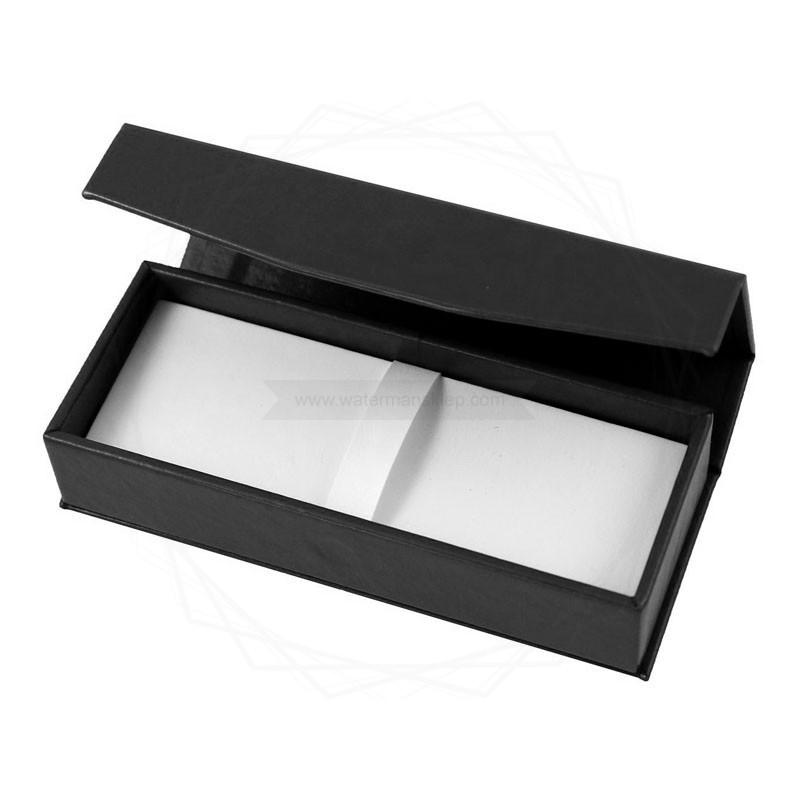 Pudełko prezentowe ze skóry ekologicznej czarne [P0188]