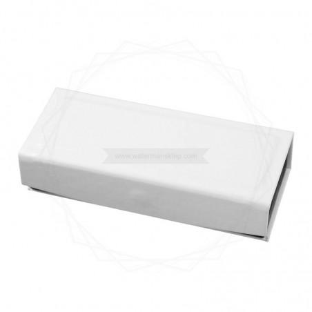 Pudełko prezentowe ze skóry ekologicznej białe [P0189]