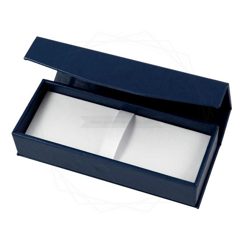 Pudełko prezentowe ze skóry ekologicznej granatowe [P0190]