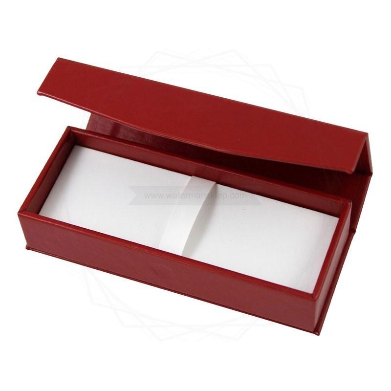 Pudełko prezentowe ze skóry ekologicznej czerwone [P0191]