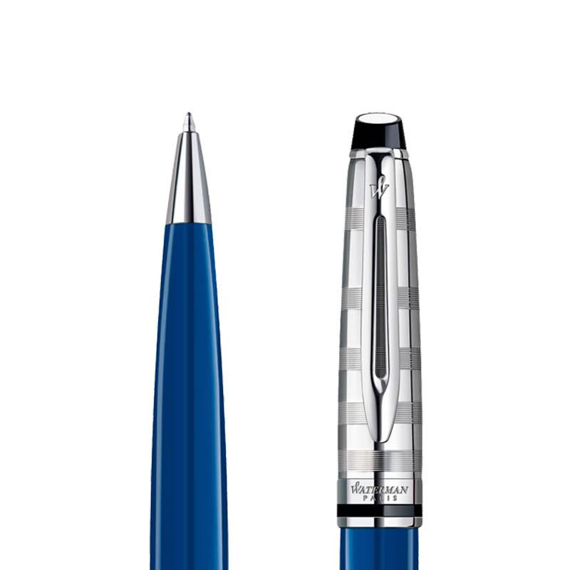 Długopis Waterman Expert Deluxe niebieski CT w przekroju
