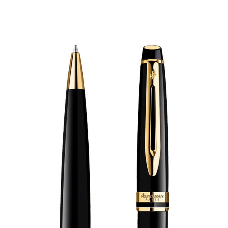 Długopis Waterman Expert czarny GT w przekroju