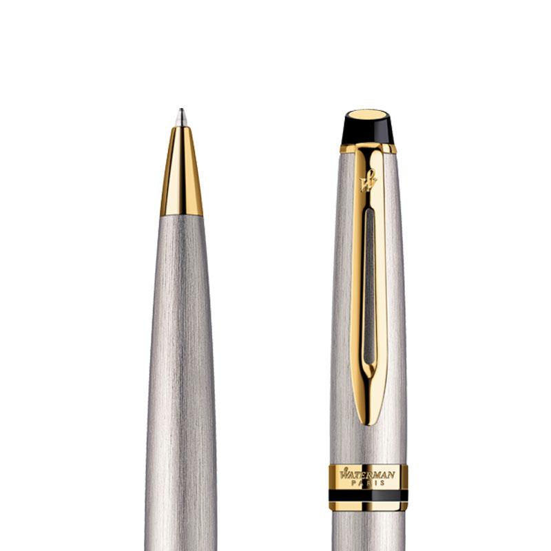 Długopis Waterman Expert stalowy GT w przekroju