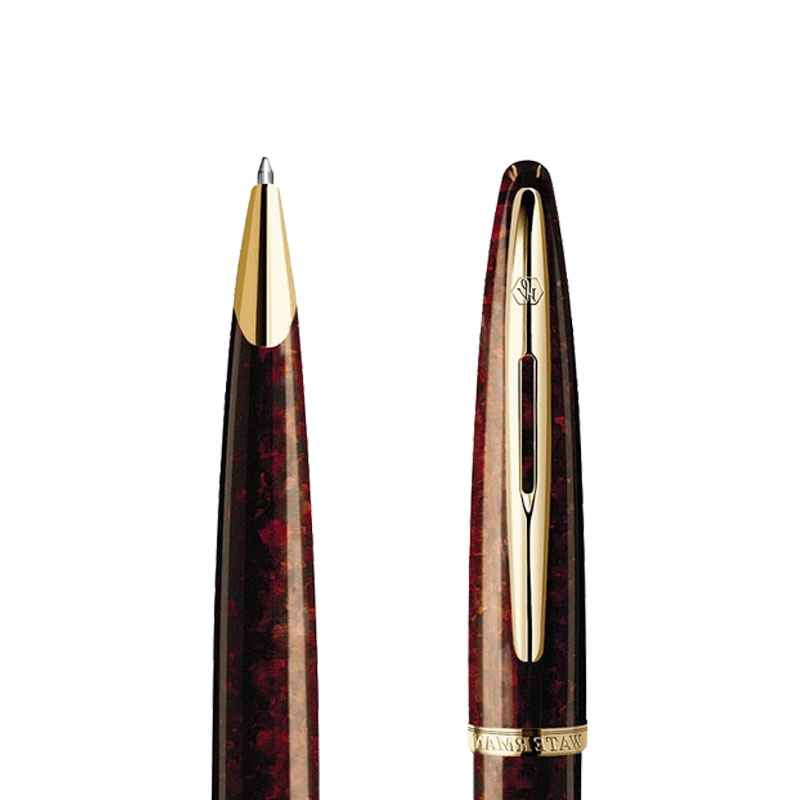 Długopis Waterman Carene bursztyn GT w przekroju