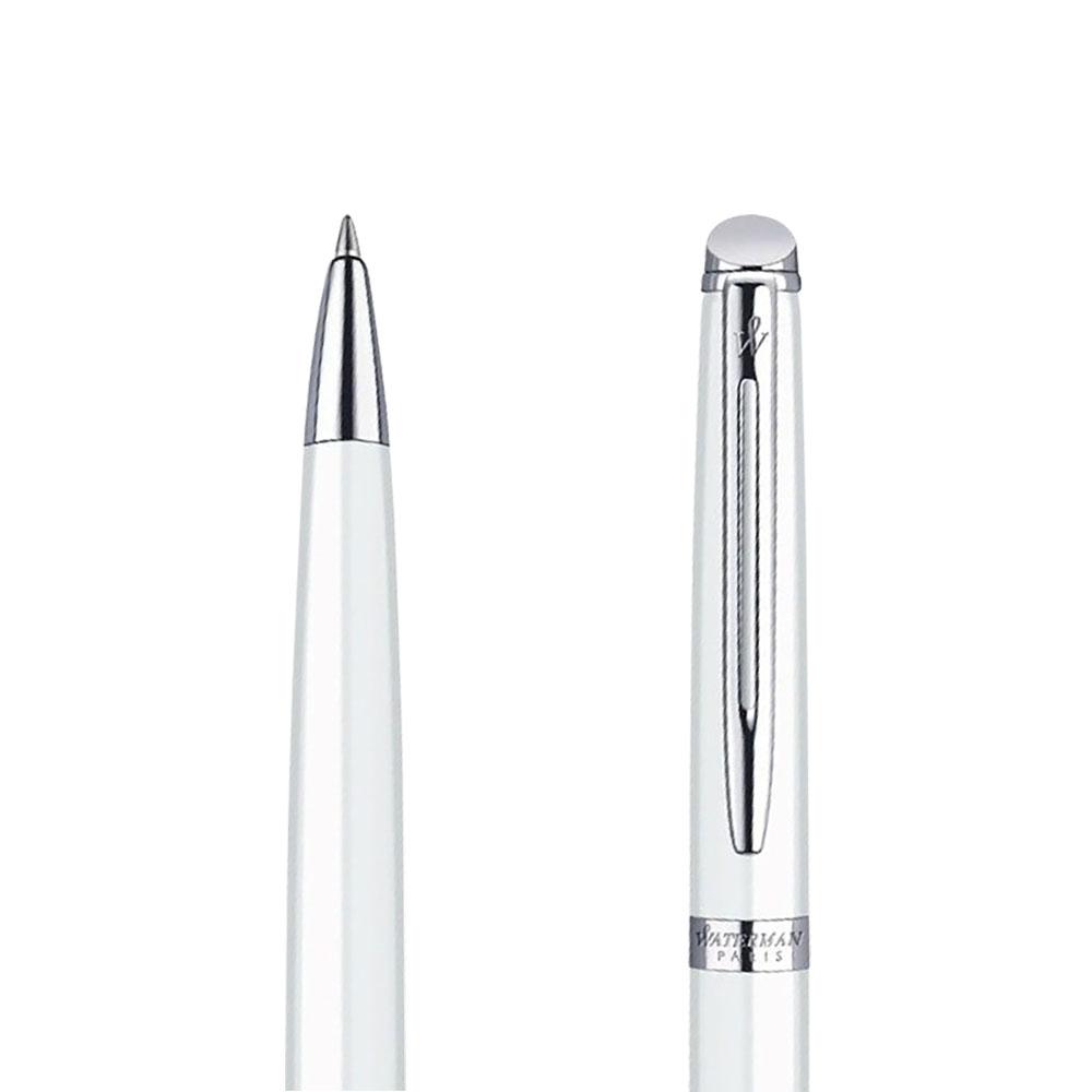 Długopis Waterman Hemisphere biały CT w przekroju