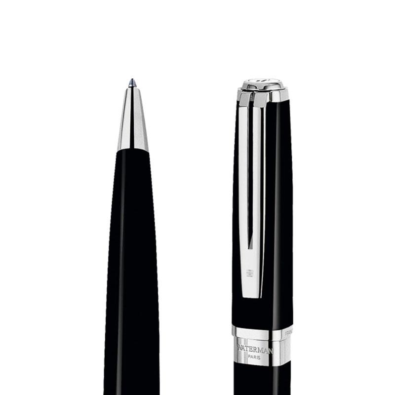 Długopis Waterman Exception Slim czarny ST w przekroju