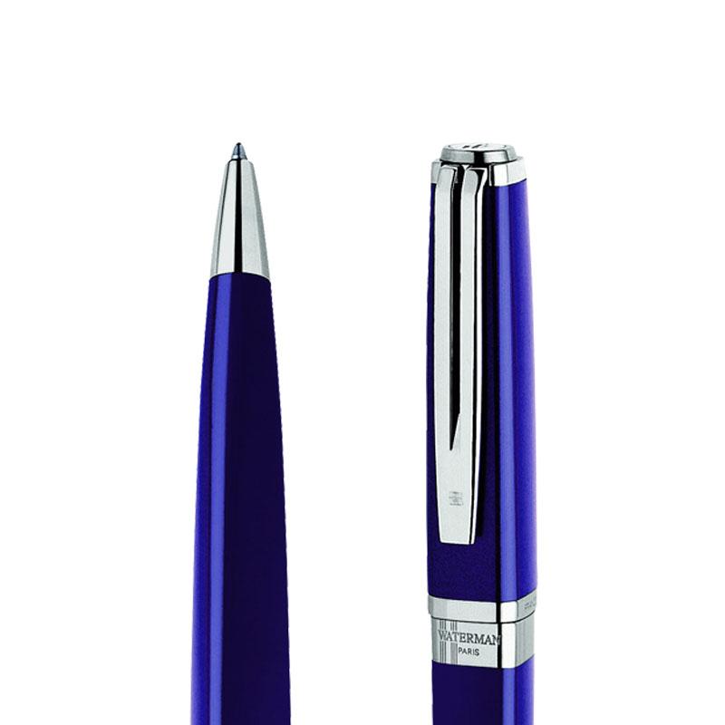 Długopis Waterman Exception Slim niebieski ST w przekroju
