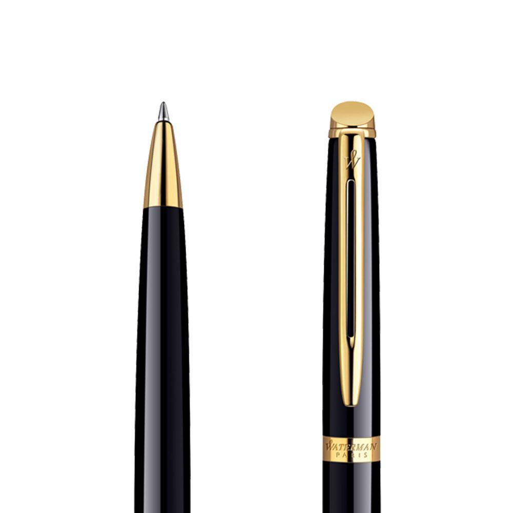Długopis Waterman Hemisphere czarny GT w przekroju