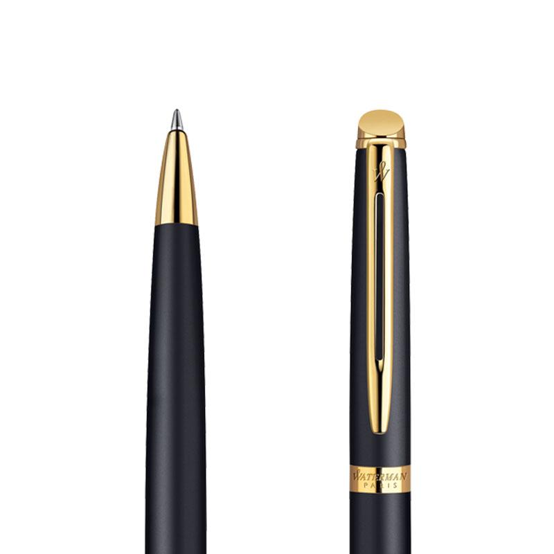 Długopis Waterman Hemisphere czarny matowy GT w przekroju