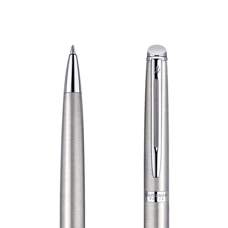 Długopis Waterman Hemisphere stalowy CT w przekroju