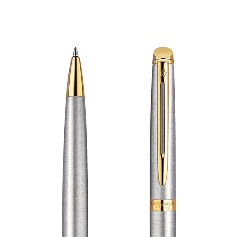 Długopis Waterman Hemisphere stalowy GT w przekroju