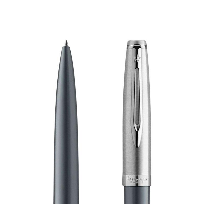Długopis Waterman Embleme DLX szary metalic CT [2100403] w przekroju
