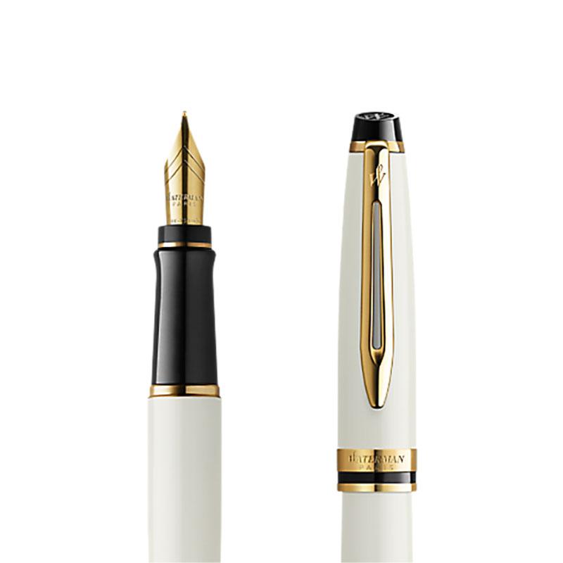 Pióro wieczne Waterman Expert Ivory GT złota stalówka 18k. [2099431] w przekroju