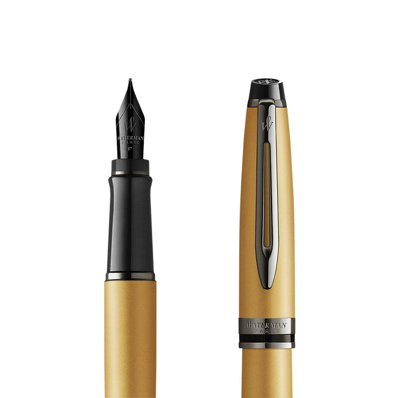 Pióro wieczne Waterman Expert Metalic Złoty [2119257] w przekroju
